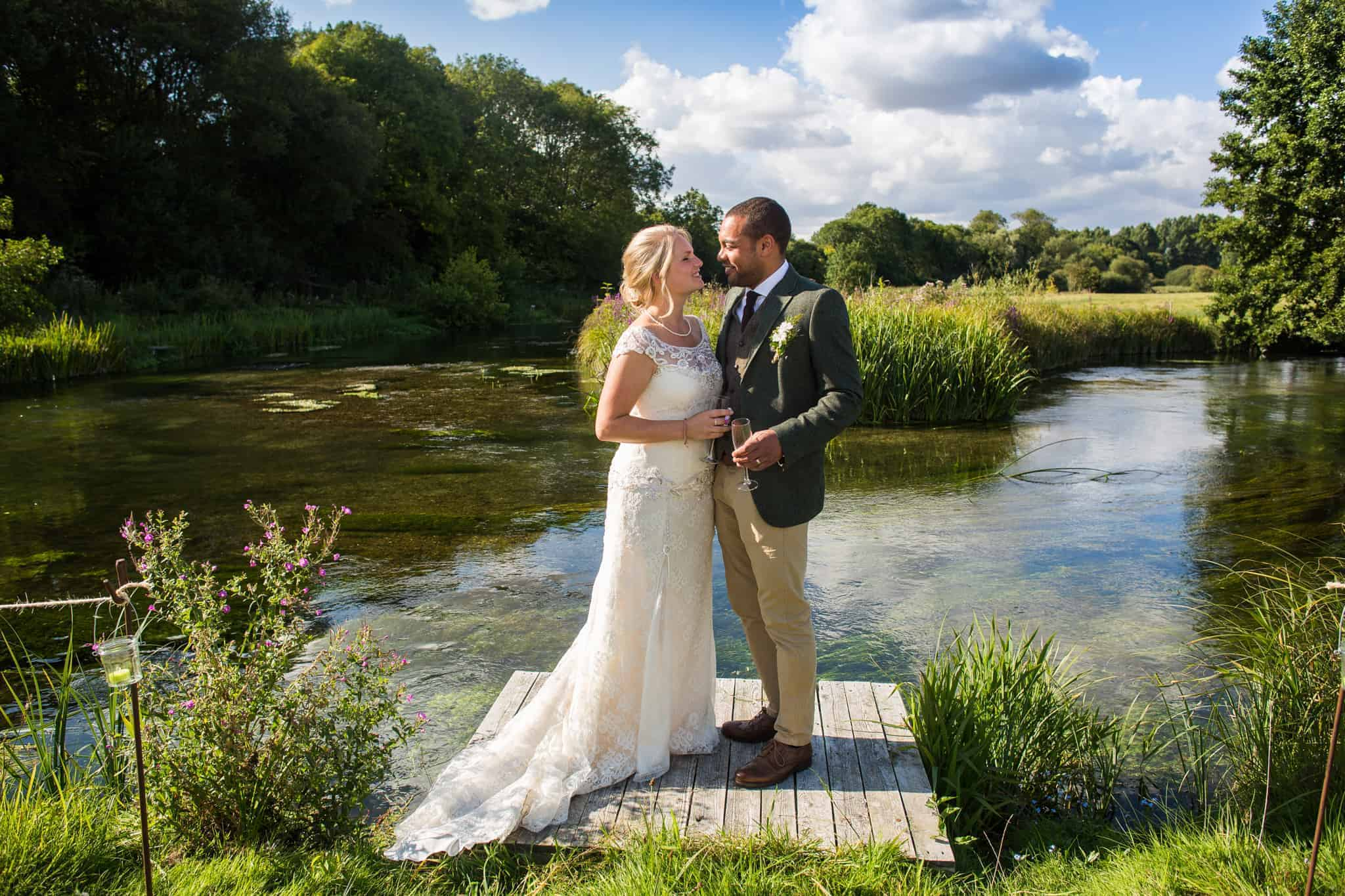 river couple wedding hampshire