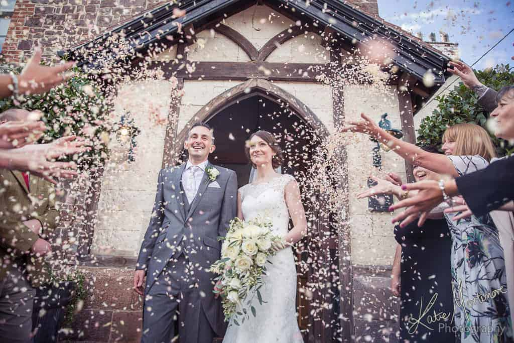 confetti wedding outdoors tiverton