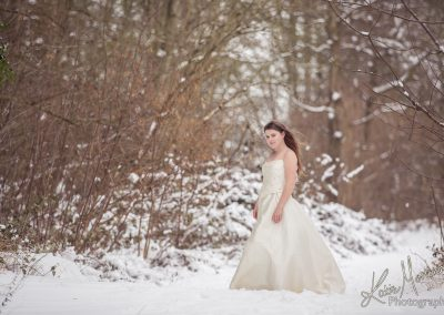 Snow wedding dress daughter mother dress