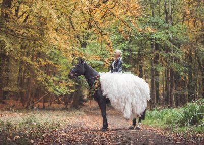 trash cherish equine horse wedding dress outdoor bride