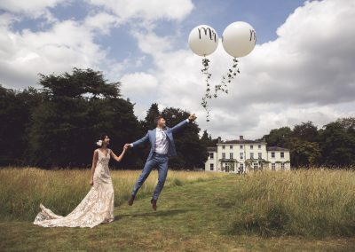 penton park outdoor wedding balloons country house fusion wedding