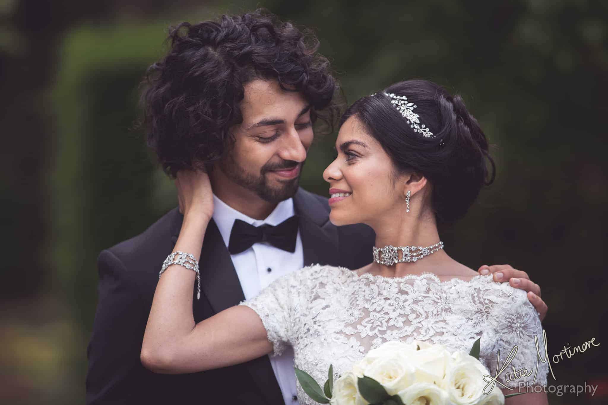 fusion wedding outdoor bride