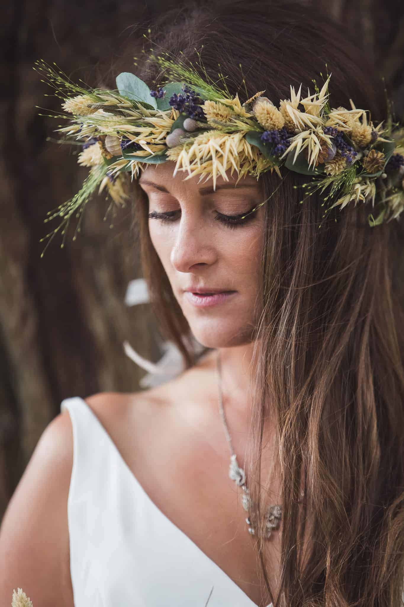 jersey wedding supplier florist flower crown bella fiori