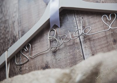 wedding bride personalised hanger commercial brand photography