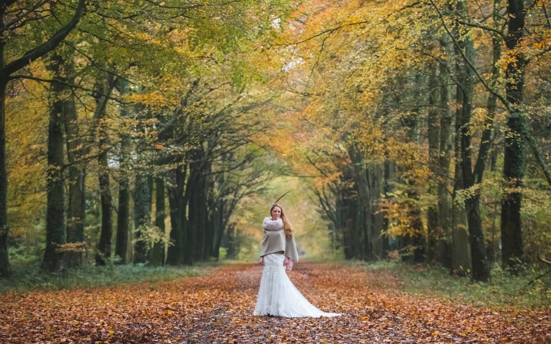 autumn wedding cape