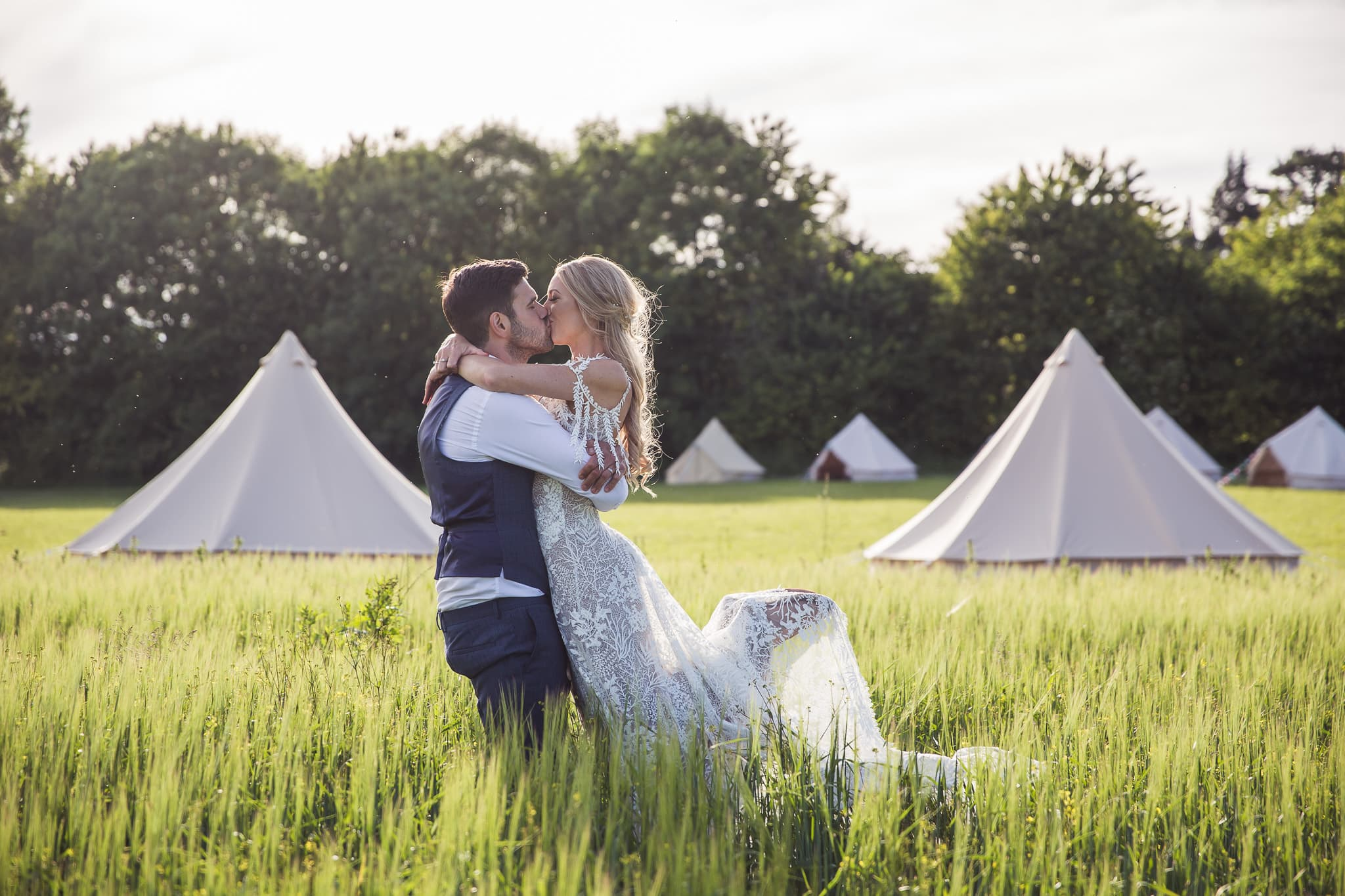 outdoor tipi wedding crops boho festival