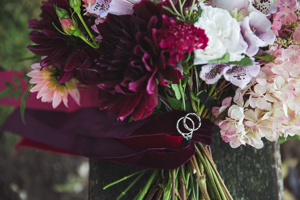 bold beautiful velvet ribbon bouquet