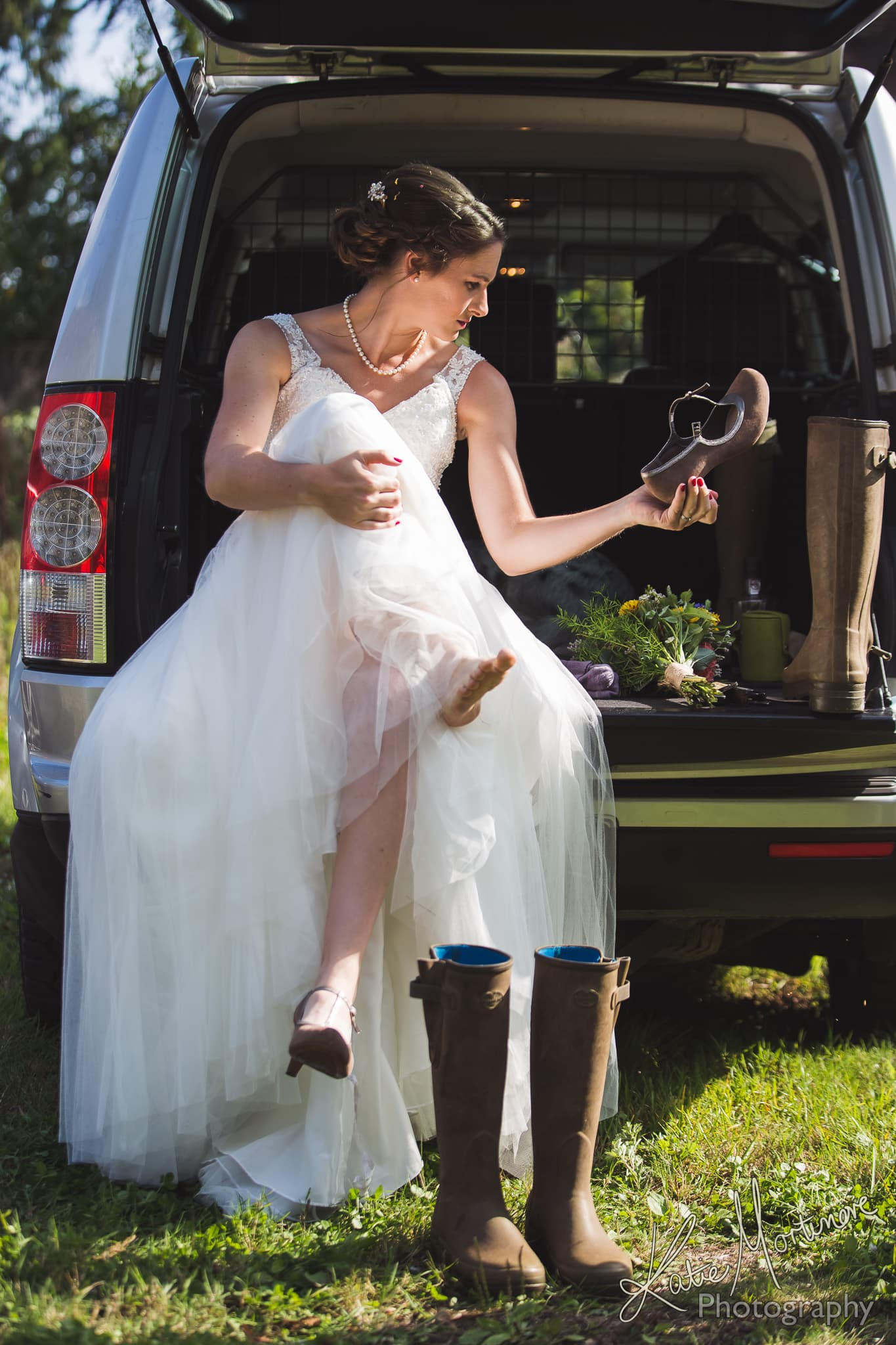 country wellies outdoor bride