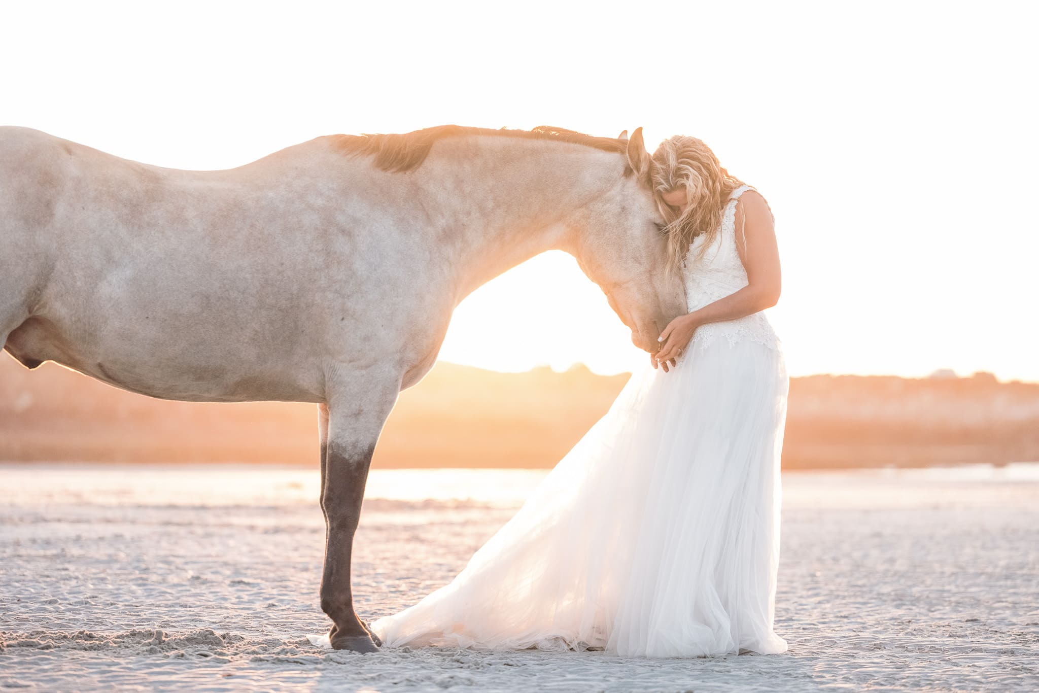 cherish wedding dress jersey bride horse beach boho